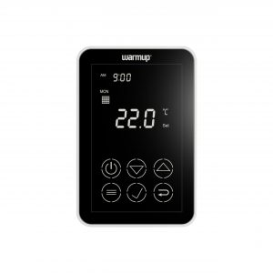 Dual Touch Programmable Thermostat Black