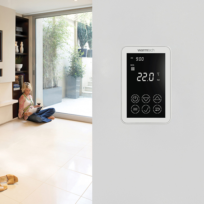 Dual touch thermostat image