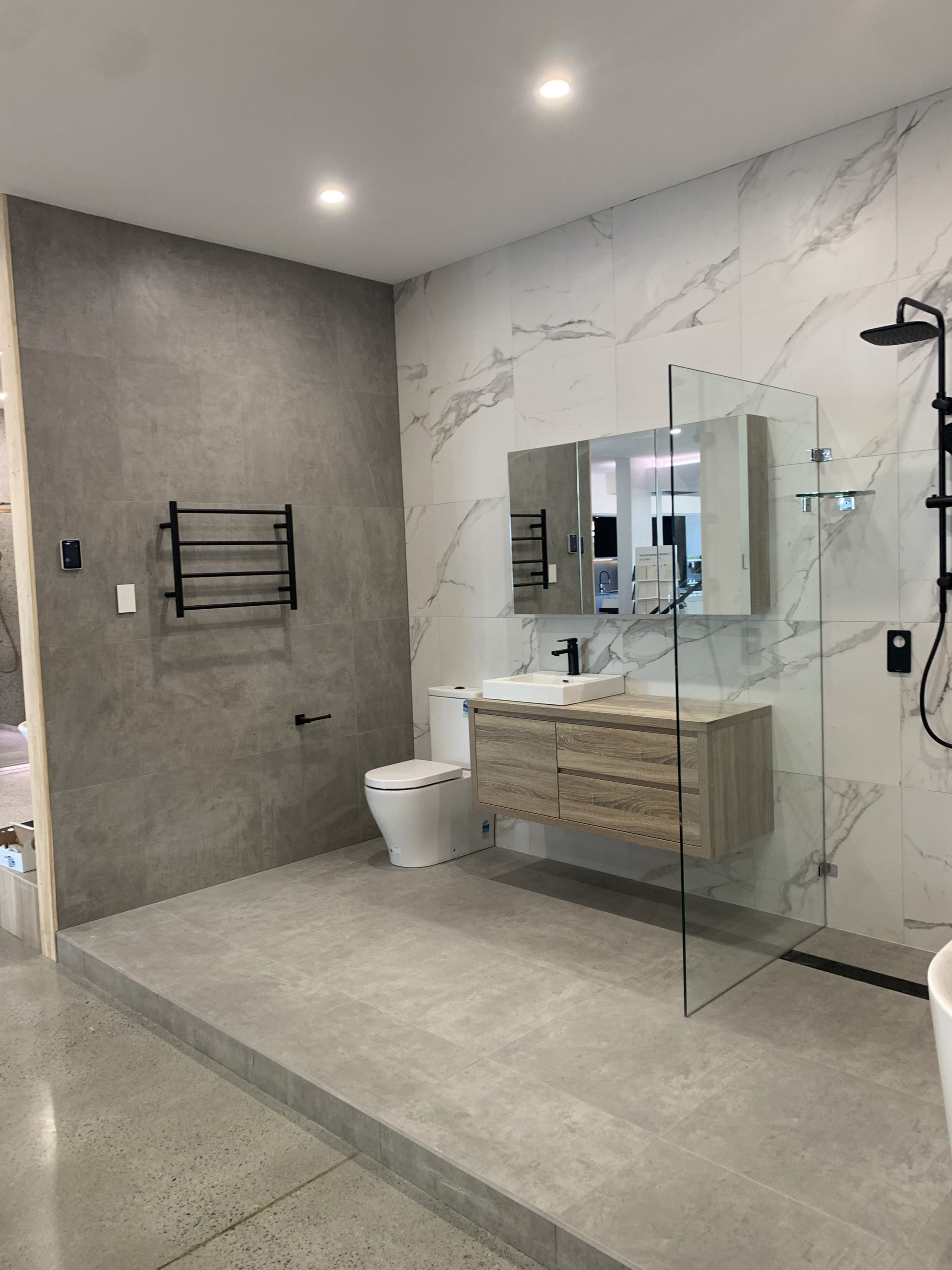 Fairmont Homes bathroom with inscreed heating and inslab heating