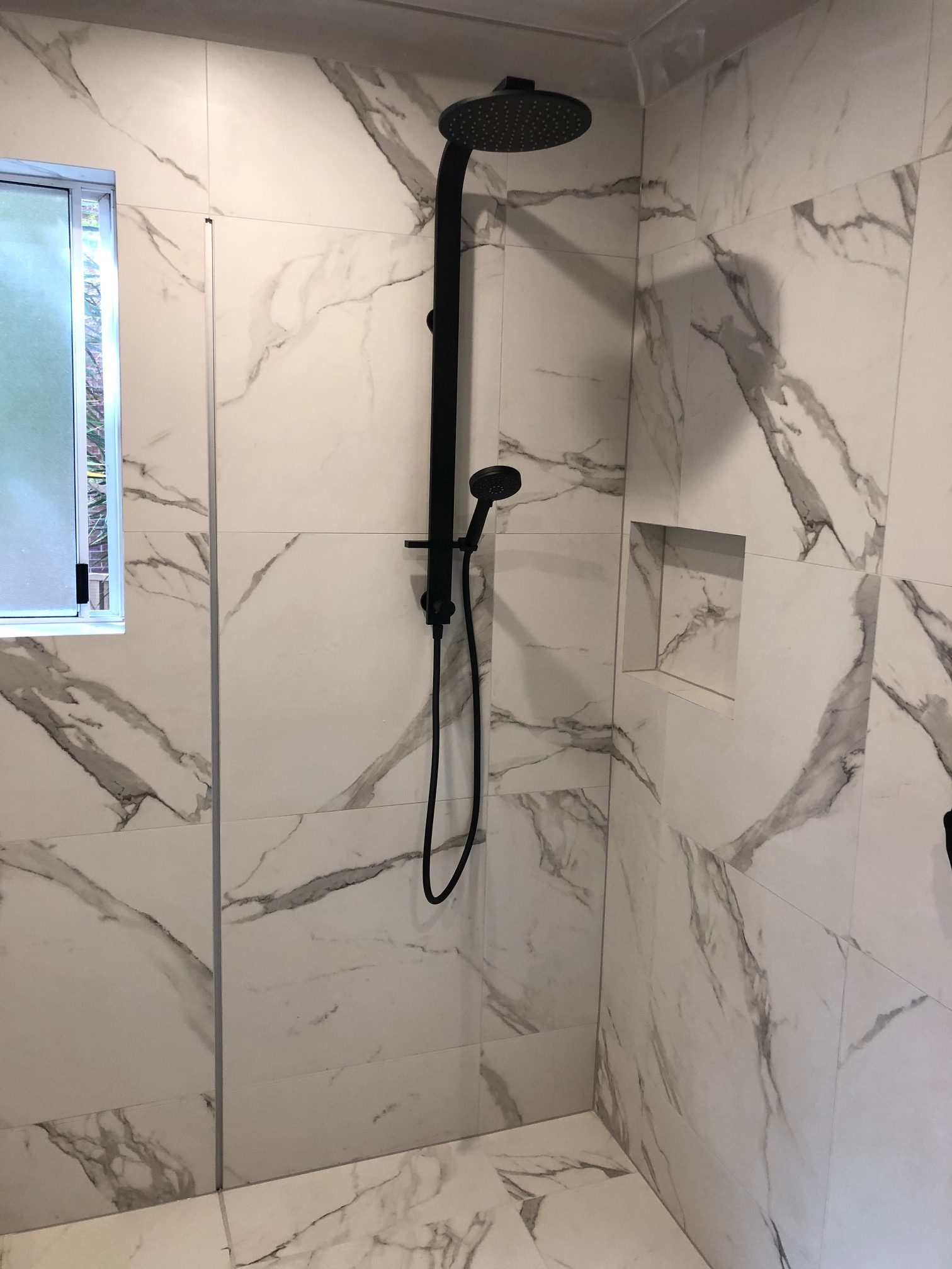 Shower with Warmtech Inscreed heating system