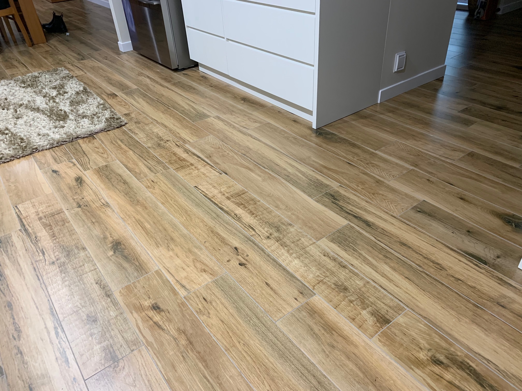 Natural wooden floor with warmtech undertile heating