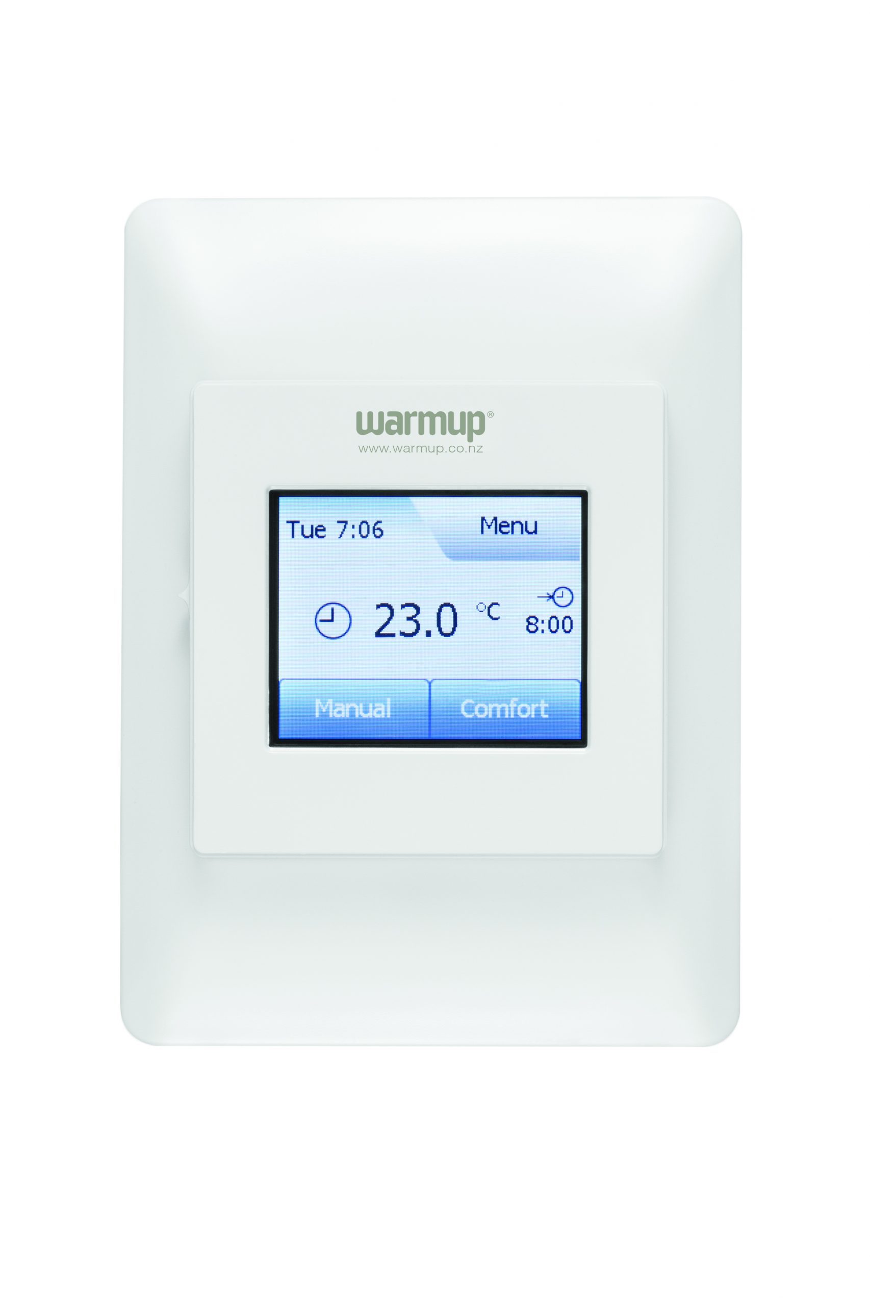 thermostat with controls for warmtech heating