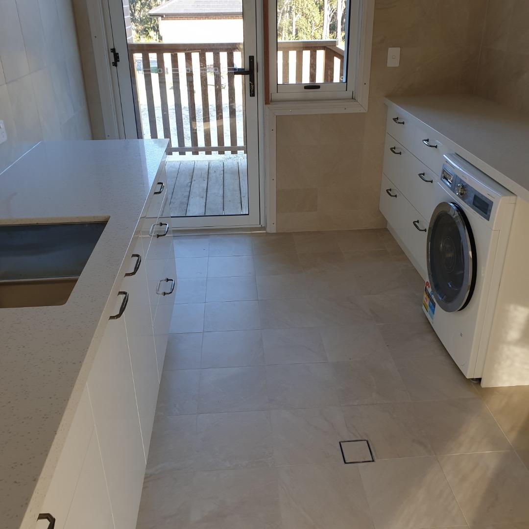 tiled laundry