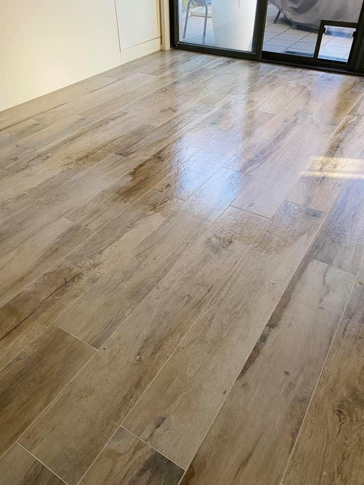 Hunter plank flooring