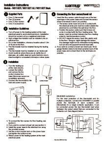 Thermostat Installation Manual